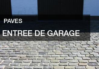 Pavés en pierre naturelle pour l'entrée du garage et les allées de votre jardin